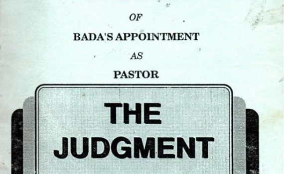 court action nullification bada appointment as pastor
