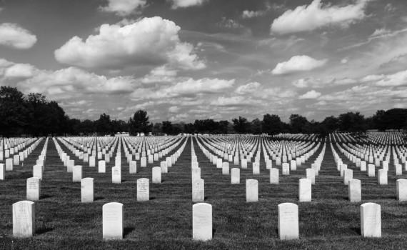 Washington, DC - June 01, 2018: Arlington National Cemetery.
